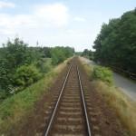 ... ale výhled z posledního vagónu byl perfektní!