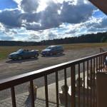 Výhled z úžasný kavárny v polích! (Můj je samozřejmě kabouš vlevo)